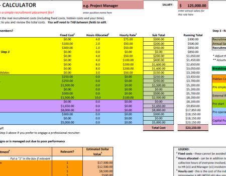 Cost of poor hire xls
